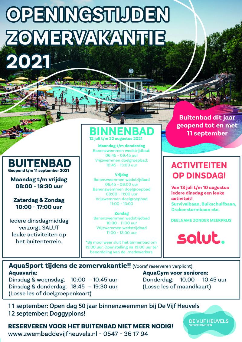 Openingstijden zomervakantie 2021